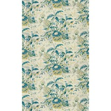 Aqua/Green Tropical Drapery and Upholstery Fabric by Brunschwig & Fils
