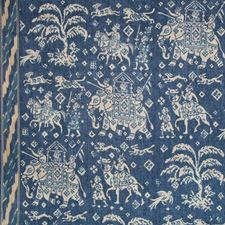 Indigo/Blue Animal Drapery and Upholstery Fabric by Brunschwig & Fils