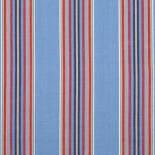 Blue/Red Stripes Drapery and Upholstery Fabric by Brunschwig & Fils