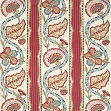 Cranberry Botanical Drapery and Upholstery Fabric by Brunschwig & Fils