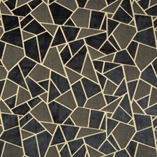 Midnight Geometric Drapery and Upholstery Fabric by Brunschwig & Fils