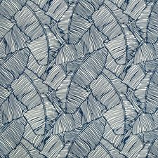 Blue Botanical Drapery and Upholstery Fabric by Brunschwig & Fils