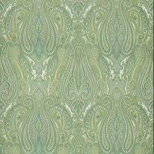 Aqua/Green Paisley Drapery and Upholstery Fabric by Brunschwig & Fils