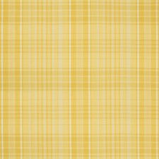 Yellow Plaid Drapery and Upholstery Fabric by Brunschwig & Fils