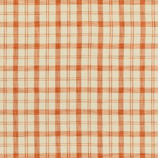 Orange Plaid Drapery and Upholstery Fabric by Brunschwig & Fils
