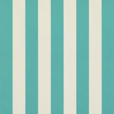 Turquoise Stripes Drapery and Upholstery Fabric by Brunschwig & Fils