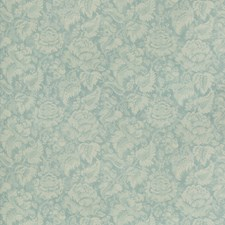 Aqua Damask Drapery and Upholstery Fabric by Brunschwig & Fils