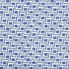 Blue Geometric Drapery and Upholstery Fabric by Brunschwig & Fils