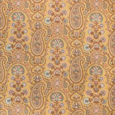 Saffron Paisley Drapery and Upholstery Fabric by Brunschwig & Fils