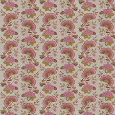 Flamingo Embroidery Drapery and Upholstery Fabric by Stroheim