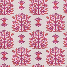 Fuchsia Leaves Drapery and Upholstery Fabric by Stroheim