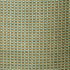 Teal Small Scale Woven Drapery and Upholstery Fabric by S. Harris