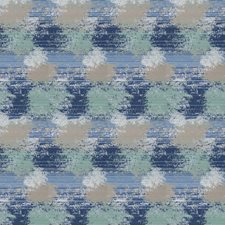 Cobalt Geometric Drapery and Upholstery Fabric by Stroheim
