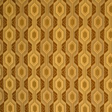 Amber Geometric Drapery and Upholstery Fabric by S. Harris