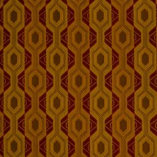 Earth Red Geometric Drapery and Upholstery Fabric by S. Harris