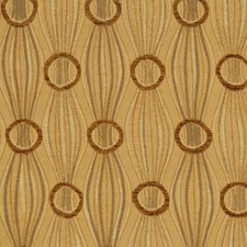 Leaf Gold Jacquard Pattern Drapery and Upholstery Fabric by S. Harris