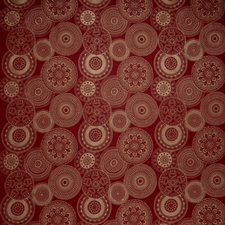 Earth Red Embroidery Drapery and Upholstery Fabric by S. Harris