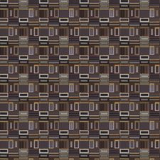 Violet Geometric Drapery and Upholstery Fabric by S. Harris