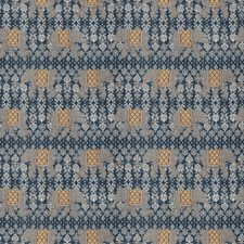 Navy Animal Drapery and Upholstery Fabric by Trend