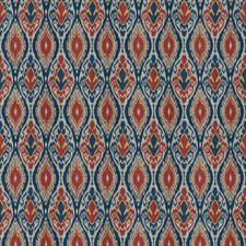 Blue Multi Global Drapery and Upholstery Fabric by Trend