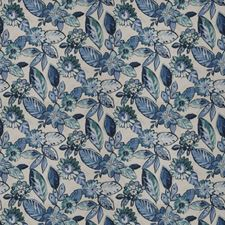 Periwinkle Floral Drapery and Upholstery Fabric by Vervain