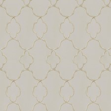 Beige Ivory Embroidery Drapery and Upholstery Fabric by Trend
