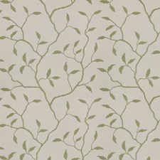 Sage Ivory Embroidery Drapery and Upholstery Fabric by Trend