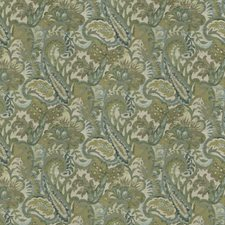 Chive Floral Drapery and Upholstery Fabric by Trend