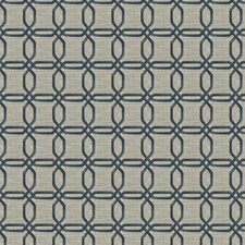 Bluejay Geometric Drapery and Upholstery Fabric by Trend