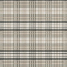 Taupe Check Drapery and Upholstery Fabric by S. Harris