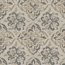 Goldenrod Medallion Drapery and Upholstery Fabric by Trend