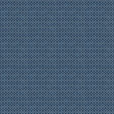 Indigo Print Pattern Drapery and Upholstery Fabric by Vervain
