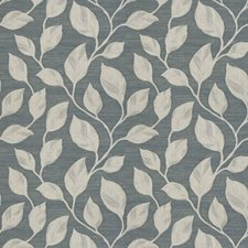 Blue Jacquard Pattern Drapery and Upholstery Fabric by Trend