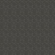 Charcoal Geometric Drapery and Upholstery Fabric by Fabricut
