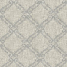 Delft Embroidery Drapery and Upholstery Fabric by Trend