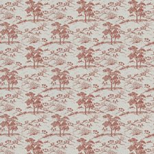 Red Asian Drapery and Upholstery Fabric by Fabricut