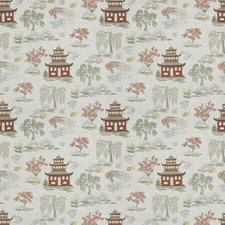 Dusty Rose Asian Drapery and Upholstery Fabric by Trend