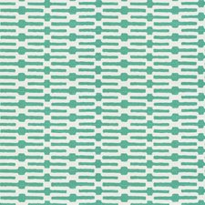 Turquoise Geometric Drapery and Upholstery Fabric by Fabricut