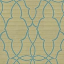 Green/Light Green/Blue Modern Drapery and Upholstery Fabric by Kravet