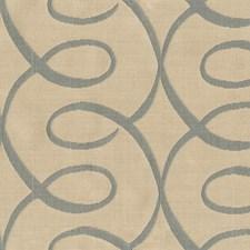 Beige/Light Blue Lattice Drapery and Upholstery Fabric by Kravet
