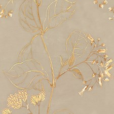Beige/Green/Brown Botanical Drapery and Upholstery Fabric by Kravet