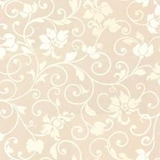 White/Beige Botanical Drapery and Upholstery Fabric by Kravet