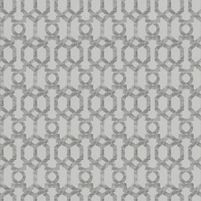 Silver Lattice Drapery and Upholstery Fabric by Trend