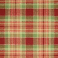 Spice Red Plaid Check Drapery and Upholstery Fabric by Greenhouse