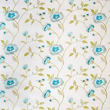 Oyster Floral Drapery and Upholstery Fabric by Greenhouse