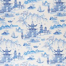 Royal Toile Drapery and Upholstery Fabric by Greenhouse