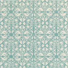 Teal/White/Mineral Geometric Drapery and Upholstery Fabric by Kravet