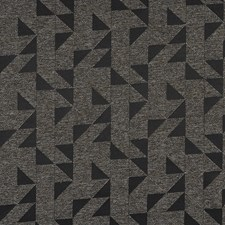 Black/Brown/Grey Geometric Drapery and Upholstery Fabric by JF