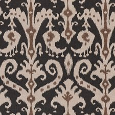 Black/Brown/Creme Traditional Drapery and Upholstery Fabric by JF