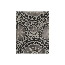 Charcoal Ethnic Drapery and Upholstery Fabric by Andrew Martin